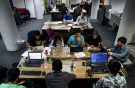 "People work on their computers during a weekend Hackathon event in San Francisco, California, U.S. July 16, 2016. REUTERS/Gabrielle Lurie SEARCH ""LURIE TECH"" FOR THIS STORY. SEARCH ""WIDER IMAGE"" FOR ALL STORIES. - RC1E2E809C80"